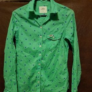Hollister long sleeved button-down shirt